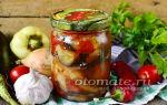 """Салат """"тройка"""" из баклажанов, перцев и помидоров на зиму, пошаговый рецепт – все о помидорках"""