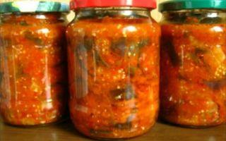 Салат из баклажанов, сладких перцев и помидоров самый вкусный на зиму – все о помидорках