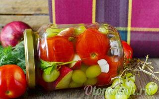 """Помидоры с виноградом на зиму, рецепт с фото """"пальчики оближешь"""" – все о помидорках"""