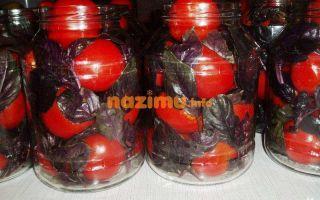Помидоры с базиликом на зиму – рецепты с фото – все о помидорках