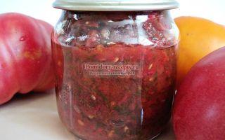 Томатная заправка, рецепт с фото на зиму – все о помидорках