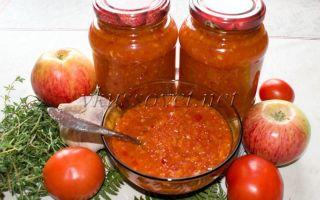 Аджика с яблоками на зиму, рецепт пальчики оближешь, острая – все о помидорках