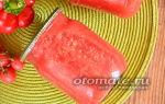 Томатное пюре на зиму, рецепт с фото пошагово – все о помидорках