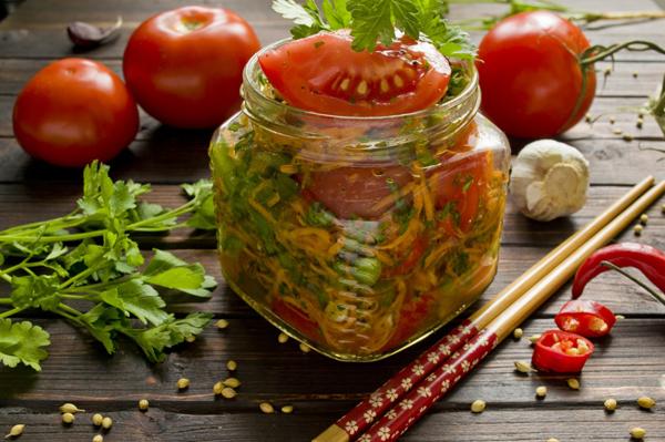Зеленые помидоры по армянски без уксуса