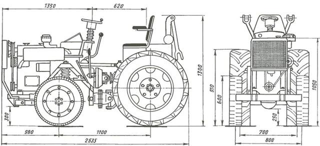 О минитракторе из мотоблока: переделка мотоблока в минитрактор своими руками
