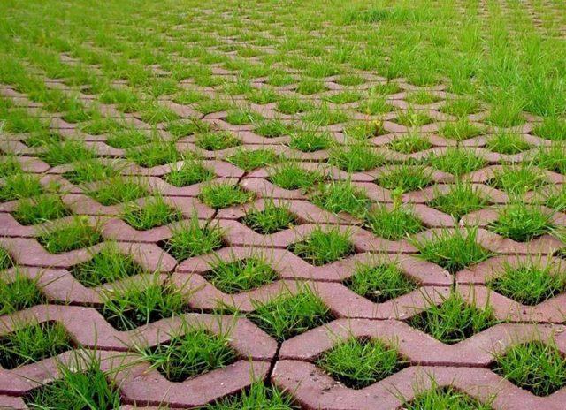 О газонной решетке из бетона: описание, как выглядит, сфера применения