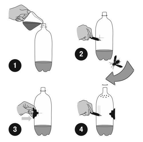 О ловушке для ос, как сделать приманку своими руками в домашних условиях
